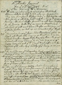 First page of the Mack Diary of Shamokin